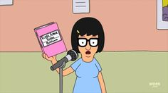 "Tina Belcher: ""Dear Diary, tonight we're sneaking into the dangerous taffy factory. Also, if boys had uteruses they'd be called duderuses"" - Bob's Burgers"