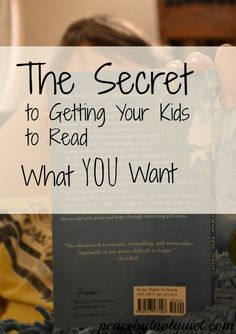 The Secret to Getting Your #Kids to #Read What YOU Want
