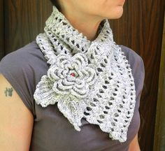 crochet brooch on Wanelo