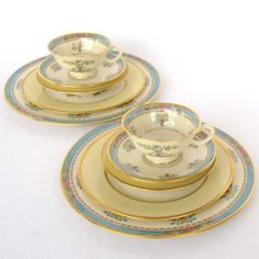 Vintage Table Place Setting Mismatched China Place by DesignWise4U, $50.00