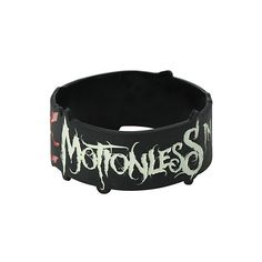 Motionless In White Bats Rubber Bracelet | Hot Topic ($7) ❤ liked on Polyvore featuring jewelry, bracelets, white bangle, rubber jewelry, rubber bangles and white jewelry