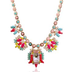 Trendy Women's Acrylic Pearl Flower Bib Statement Necklaces from Pandahall.com
