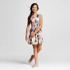 Girls' Scuba Print Dress Peach - Cherokee™