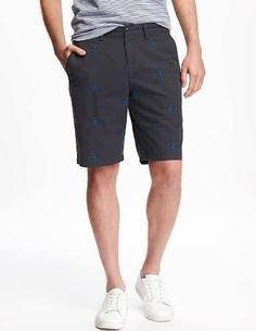 """Old Navy Ultimate Slim Fit Khaki Shorts For Men 10"""" Lobster 34W - Brought to you by Avarsha.com"""