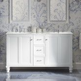 """Found it at Wayfair - Damask 60"""" Vanity with Furniture Legs, 2 Doors and 3 Drawers"""