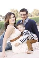 family maternity picture idea