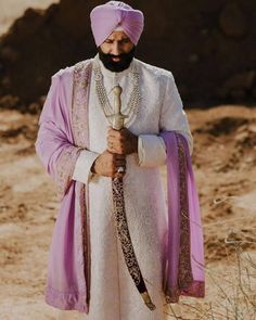 Best Of Punjabi Groom Outfits That You Must Bookmark For Your Wedding Sikh Wedding, Wedding Groom, Wedding Attire, Wedding Couples, Punjabi Wedding, Farm Wedding, Boho Wedding, Wedding Reception, Wedding Ideas