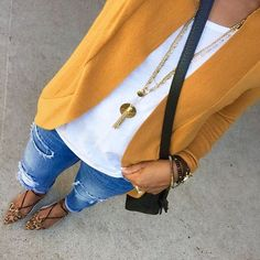#FallFashion love everything except the color of the sweater. Not a good color for me.