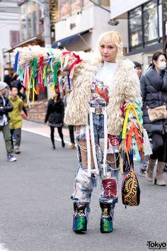 "AMAZING style & fashion !!! Hayatochiri Tokyo Ribbon Jacket ... Mai Aisaki, fashion designer for ""Himitsu Gadget"" http://himitugadget.thebase.in/ | 9 December 2015 | #Fashion #Harajuku (原宿) #Shibuya (渋谷) #Tokyo (東京) #Japan (日本)"