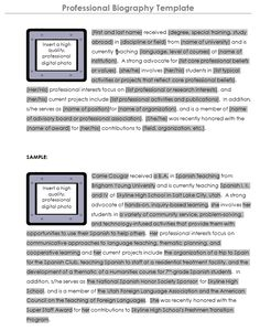 003 Autobiography Example layouts Pinterest