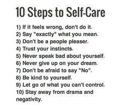 10 Steps To Self-Care ;)