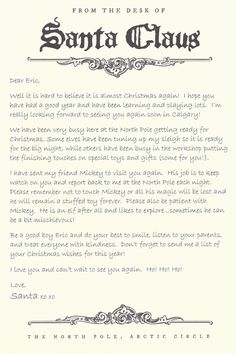 ... Ideas | Pinterest | Letter From Santa, Letters and Very Clever