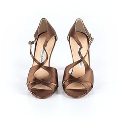 Pre-owned Manolo Blahnik Heels Size 7 1/2: Brown Women's Shoes (€120) ❤ liked on Polyvore featuring shoes, brown, pre owned shoes, manolo blahnik, manolo blahnik shoes and brown shoes