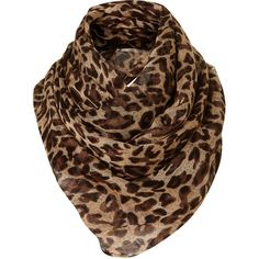Leopard Scarf (€29) ❤ liked on Polyvore featuring accessories, scarves, sciarpe, schal, pañuelos, women, leopard shawl, woven scarves, leopard print scarves and leopard print shawl