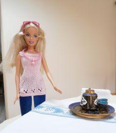 Ensemble tunique rose pantalon bleu pour poupée barbie : Jeux, jouets par tit-mome