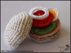 Amigurumi Food: Salad Roll Free Pattern
