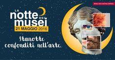 La notte dei musei 2016: Musei aperti dalle 20 alle 2 di notte. Visite e speciali spettacoli di musica, teatro e danza. http://www.museiincomuneroma.it/servizi/news/ndmroma16_mi_confondo_nell_arte