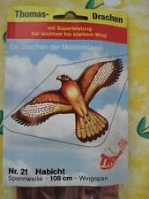 1970/80er Jahre Thomas Drachen 21 HABICHT unbenutzt OVP West Germany günther