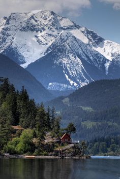 Anderson Lake, British Columbia   ~  Would so love to stay there.. in that little cabin!