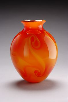 """Fire Vase""  Art Glass Vase  Created by Geoff Lee"