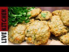 Συγκλονιστικά μπιφτέκια λαχανικών - Delicious vegetable burgers - Live Kitchen - YouTube Easy Healthy Recipes, Vegan Recipes, Easy Meals, Kitchen Living, Food And Drink, Snacks, Chicken, Meat, Cooking