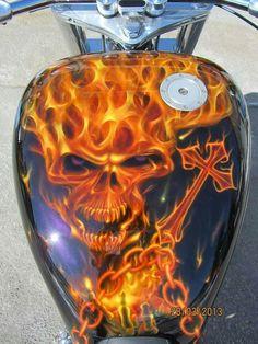 Helen of Troy Professional Hot Air Brush Styler Custom Motorcycle Paint Jobs, Custom Paint Jobs, Bike Design, Chopper, Harley Davidson Seats, Flame Art, Custom Tanks, Custom Airbrushing, Indian Motorcycles