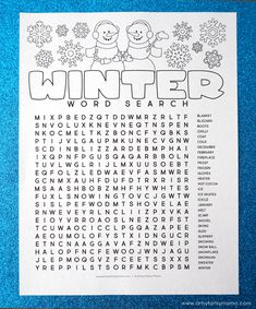 Free Printable Winter Word Search Coloring Page