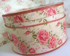 Vintage Hat Box - we had similar ones growing up, one in pink and one in yellow.