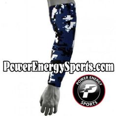 Baseball Sports Compression Arm Sleeve - Digital Camo Navy Blue (Youth Medium) Sports Baseball, Softball, Volleyball, Basketball, Compression Arm Sleeves, Digital Camo, Hooded Sweatshirts, The North Face, Youth