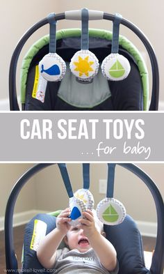 Car Seat Toys…for baby!for baby! by Michaels Makers Make It and Love ItDIY Car Seat Toys.for baby! by Michaels Makers Make It and Love It Diy Gifts To Make, Diy Baby Gifts, Baby Crafts, Baby Shower Gifts, Girl Gifts, Baby Boy Toys, Toddler Toys, Baby Baby, Baby Girls