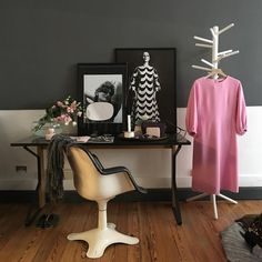 Eclectic work space with retro vibe @marimekkodesignhouse