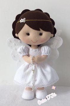 images attach d 1 132 749 Felt Crafts, Diy And Crafts, Sewing Crafts, Sewing Projects, Felt Angel, Felt Christmas Decorations, Angel Crafts, Felt Baby, Felt Patterns