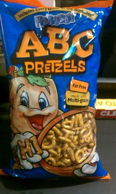 ABC Pretzels found at HEB!! I can think of a million and one ways to use these pretzels in my lessons.  Read more, click on picture.  Mrs. Ayalas Kinder Fun: A week of Great Finds and Creations!#Repin By:Pinterest++ for iPad#