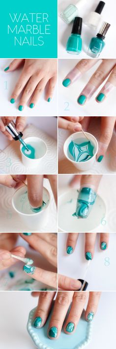 TUTORIAL: Water Marble Nails