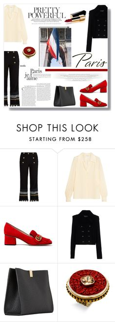 """""""I Love Paris In the Fall"""" by nina-lala ❤ liked on Polyvore featuring Sonia Rykiel, Gucci, Balenciaga, Chanel and Mars and Valentine"""
