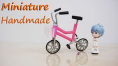 How To Make Realistic Miniature Bicycle  - Doll crafts