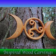 Celtic Moon Goddess Symbol with Triskele-Birth by signsofspirit