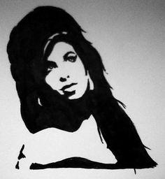 Amy Winehouse Fan Art Portrait Marker  http://molempire.com/2011/08/07/fan-art-in-memoriam-amy-winehouse/