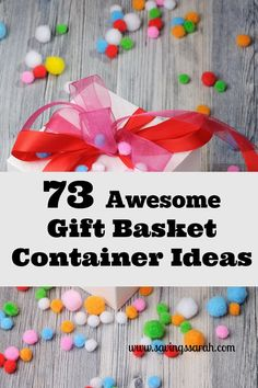 Gift baskets are perfect for wowing gift recipients without busting budgets. This FREE guide to 73 Awesome Gift Basket Containers gets you started right!