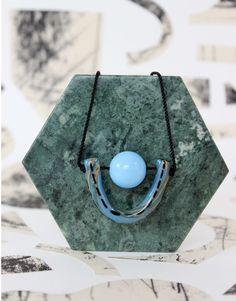 Aliyah Hussain - Marble U - Cornflower Blue