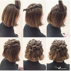 Crown braid for short hair #braidsforshorthair