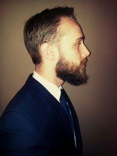 Beard in a suit