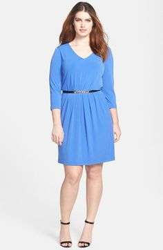 Tahari Jersey A-Line Dress (Plus Size) available at #Nordstrom   Dri's dress