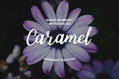 Caramel handwritten font by Daria Bilberry on @creativemarket