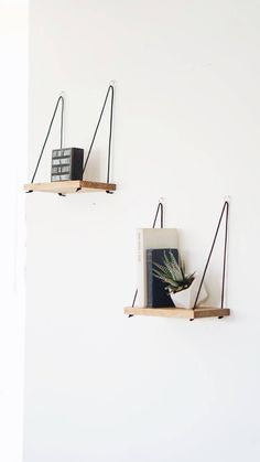 Recamier: know what it is and how to use it in decoration with 60 ideas - Home Fashion Trend Rope Shelves, Floating Shelves Diy, Hanging Shelves, Shelving, Wall Shelves, Mason Jars, Piece A Vivre, Natural Home Decor, Diy Décoration