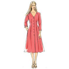 Buy Vogue Women's Dresses Sewing Pattern, 8970b5 Online at johnlewis.com