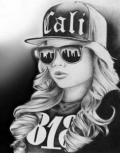 Chicano Art Tattoos, Chicano Drawings, Body Art Tattoos, Art Drawings, Gangster Drawings, Badass Drawings, Arte Lowrider, Dibujos Tumblr A Color, Cholo Art