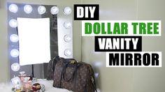 DOLLAR TREE DIY VANITY MIRROR | Large DIY Vanity Mirror Tutorial | Dollar Store DIY Glam Room Decor - YouTube