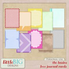 """The Basics"" free printable journal cards / Little Big Designs: Final Freebie Project Life Free, Project Life Cards, Project 365, Scrapbooking Freebies, Pocket Scrapbooking, Digital Scrapbooking, Life Journal, Journal Cards, Printable Designs"