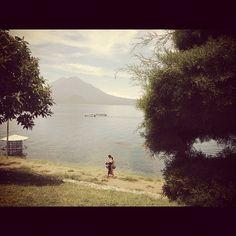 Lake Atitlan View in Panajachel, Gautemala #travel